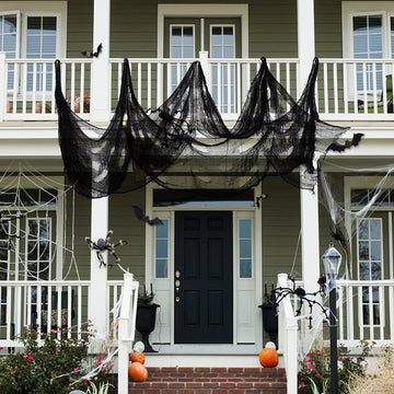 Halloween Terror Hole Black Net Yarn Decoration(2 Pieces)