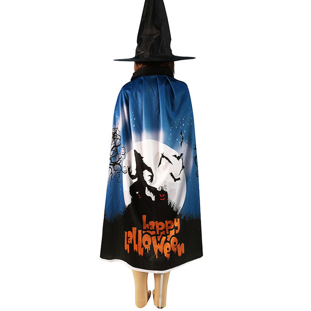 Halloween Cosplay Masquerade Cloak And Hat