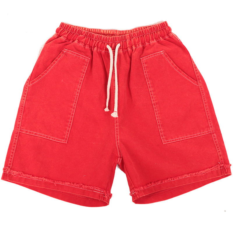Hand Made Casual Distressed Cotton Shorts