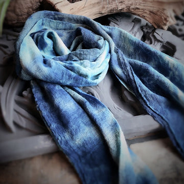 Handmade Tie-dyed Cotton Scarf - Buykud