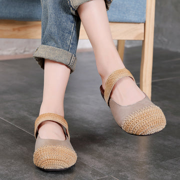 Handmade Woven Stitching Leather Sandals