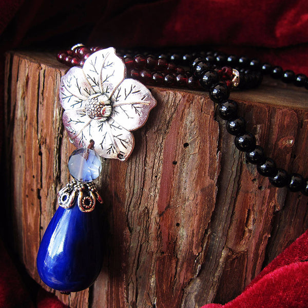 Handmade Ceramics Long Pendant Necklace
