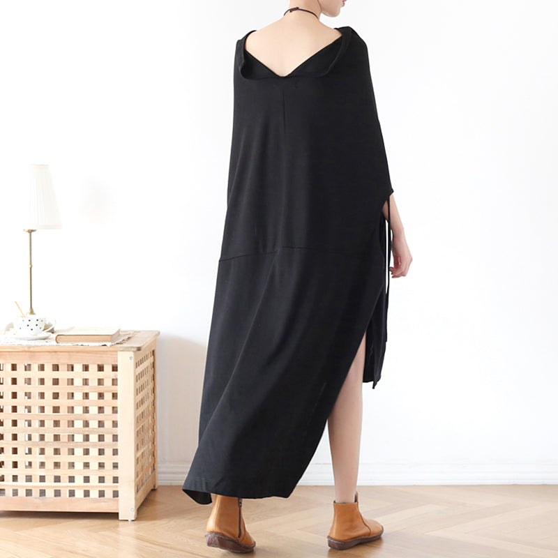 High Low Hem Boat Neck Dress