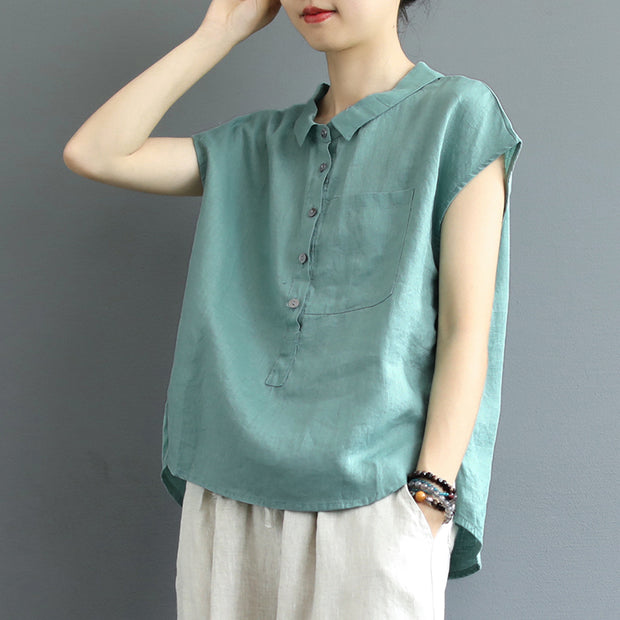 High Low Hem Casual Sleeveless T-Shirt