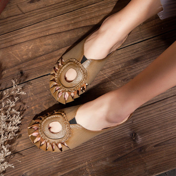 Hollow Out Casual Comfort Ethnic Style Sandals