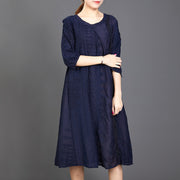 Hollow Out Solid Color Half Sleeve Casual Dress