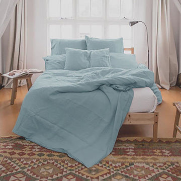 Home Sleep Solid Color Linen Bedding