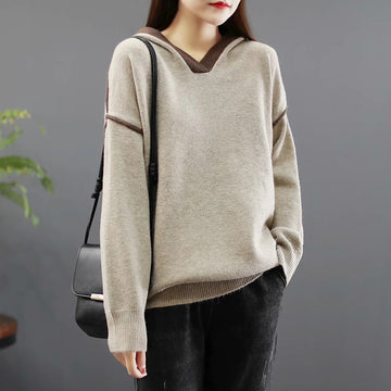 Hooded Casual Loose Women Sweater