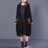 Hooded Cardigan Long Sleeves Cotton Long Coat