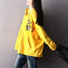 Hooded Cotton Zipper Autumn Casual Print Hoodie