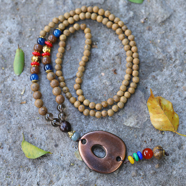 Vintage Wood Beads Retro Dainty Vintage Necklace For Women - Buykud