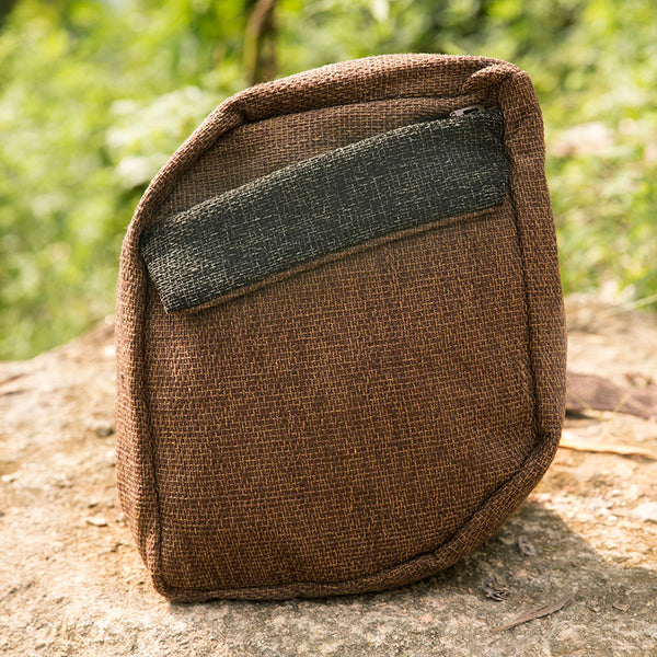 Casual Retro Linen Simple Mixed Color Messenger Bag