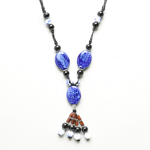 Vintage Ceramic Retro Necklace For Women - Buykud