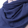 Cotton Linen Casual Women Dark Blue Rectangle Scarf - Buykud