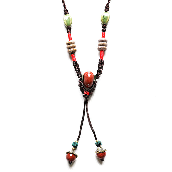 Dainty Vintage Ceramic Retro Necklace For Women - Buykud