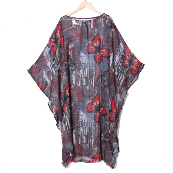 Summer Printing Baggy Casual Dress For Women - Buykud