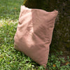 Cotton Linen Comfortable Square Pink Pillow - Buykud