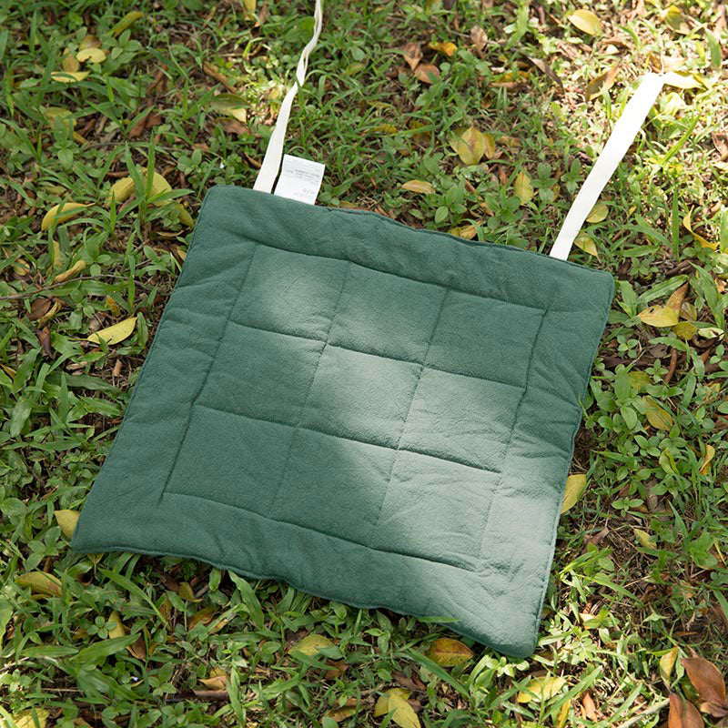 Seat Cushion Solid Light Green Geometry Strap Soft Cushion - Buykud