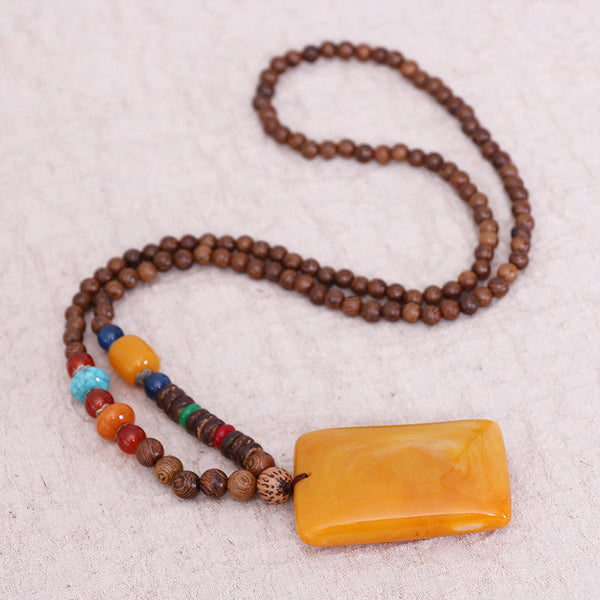 Jewelry Wax Bead Pendant Necklace