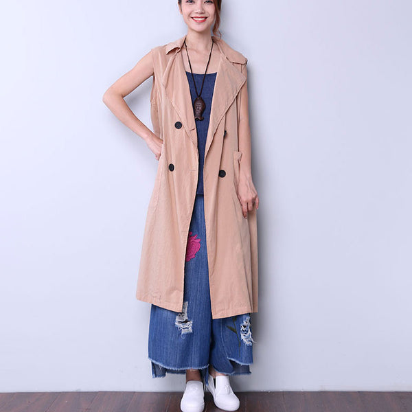 Solid Casual Button Pocket Women Yellow Coat