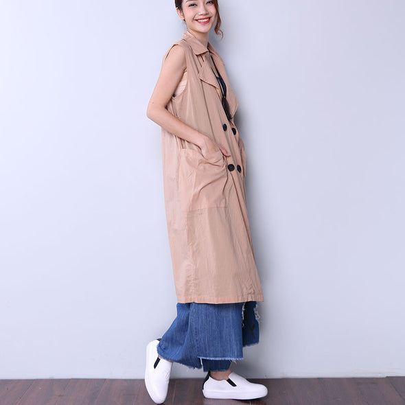 Solid Casual Button Pocket Women Yellow Coat - Buykud