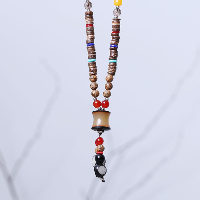 Women Wooden Ethnic Casual Beads Necklaces – Buykud