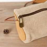 Women Linen Cotton Retro Beige Shoulder Bag - Buykud