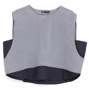 Women's Loose Round Neck Sleeveless Vest