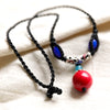 Graceful Agate Knitted Pendant Necklace - Buykud