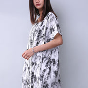 Printing Loose Pocket Women Casual Dress - Buykud