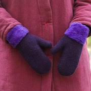 Winter Women Keep Hand Warm Thick With Velvet Gloves - Buykud
