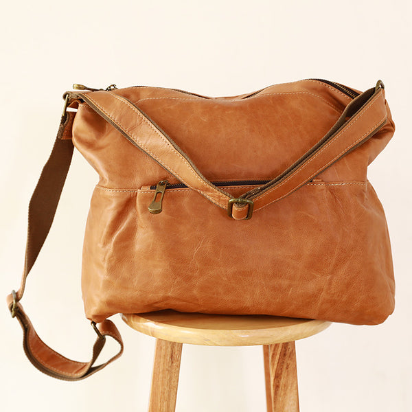Women Canvas Leather Durable Handbag Shoulder Bag
