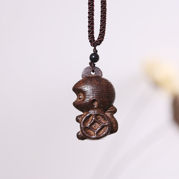Ethnic Women Retro Wooden Necklaces - Buykud