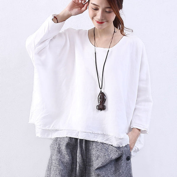 Women Loose Casual White Shirt