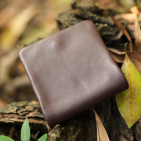Folded Snap Button Vintage Luxury Unisex Cash Coin Wallet - Buykud