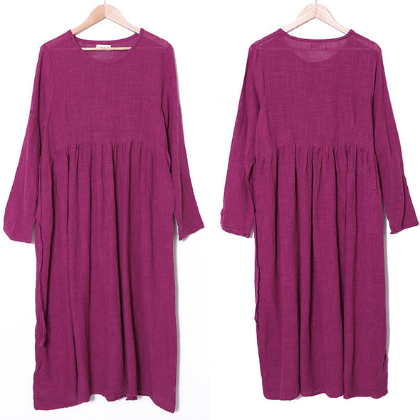 Retro Loose Casual Baggy Dress For Women - Buykud