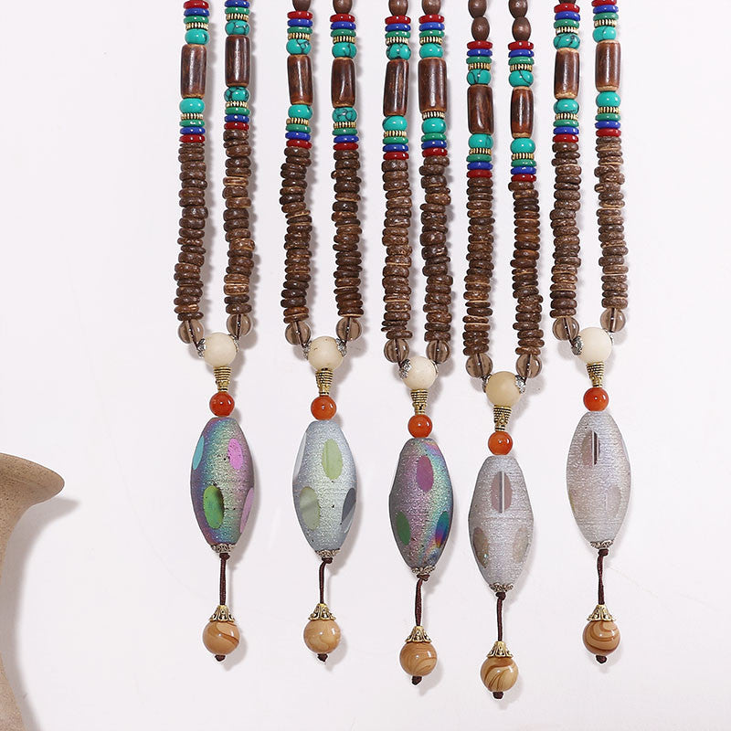 Wooden Casual Women Retro Beads Necklaces – Buykud