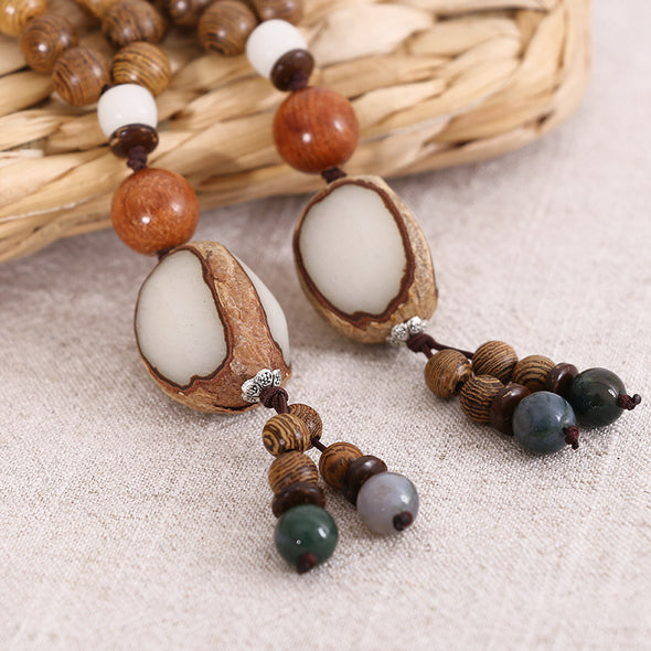 Beaded Wooden Casual Women Retro Necklaces - Buykud