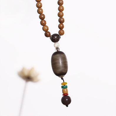 Wooden Retro Beaded Ethnic Women Necklaces - Buykud