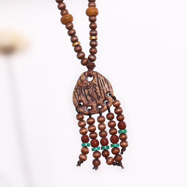 Retro Women Vintage Jewelry Clay Necklace - Buykud