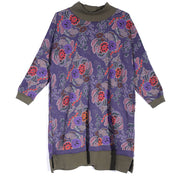 Mock Turtle Neck Long Sleeve Women Autumn Winter Printing Dress - Buykud