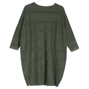 Women Spring Autumn Casual Loose Stripe Long Sleeve Dress - Buykud
