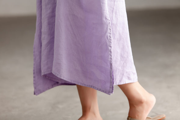 Casual Pleated Short Sleeve Embroidery Summer Dress
