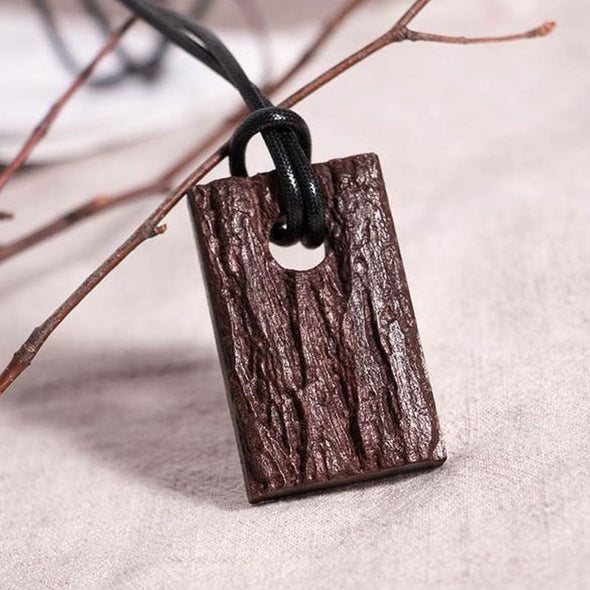 Square Wooden Retro Women Necklaces - Buykud