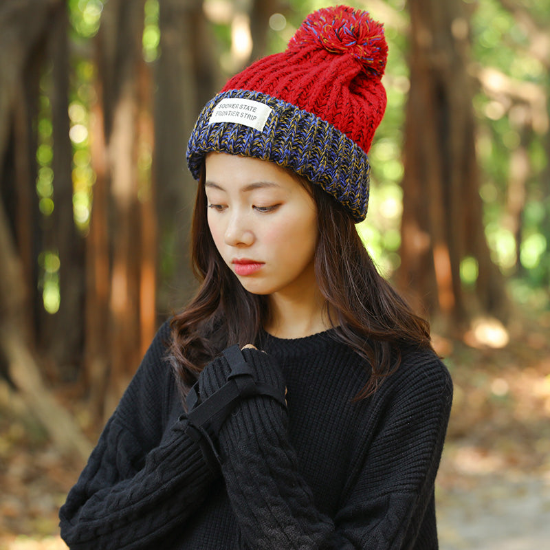 fa0486f002249 ... Winter Women Elegant Fur Ball Knitted Hats Female Cap - Buykud ...