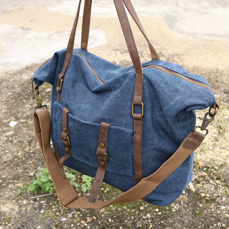 Leather Women Canvas Casual Blue Messenger Bag - Buykud b17c56030e