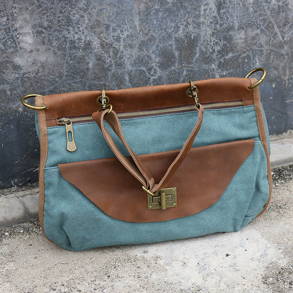 Retro Casual Canvas Women Green Messenger Bags - Buykud