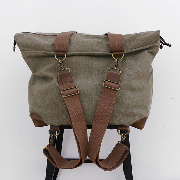 Canvas Casual Women Green Backpack - Buykud