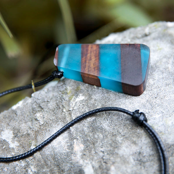 Retro Exquisite Blue Trapezoid Necklaces