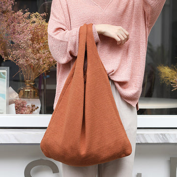 Ins Casual Shopping Knitted Tote Bag